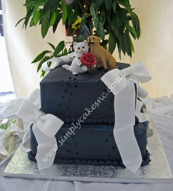 Navy Blue wedding cake By loriemoms Yes this cake is Navy Blue