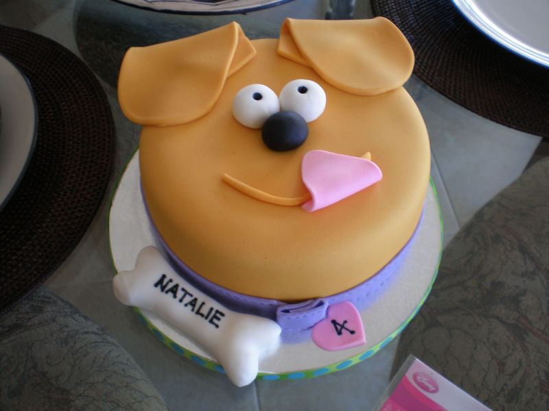 Puppy Face Birthday Cake