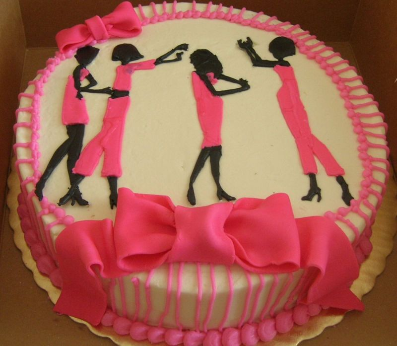 I made this cake for a girl's night out, but had n idea what I would come up