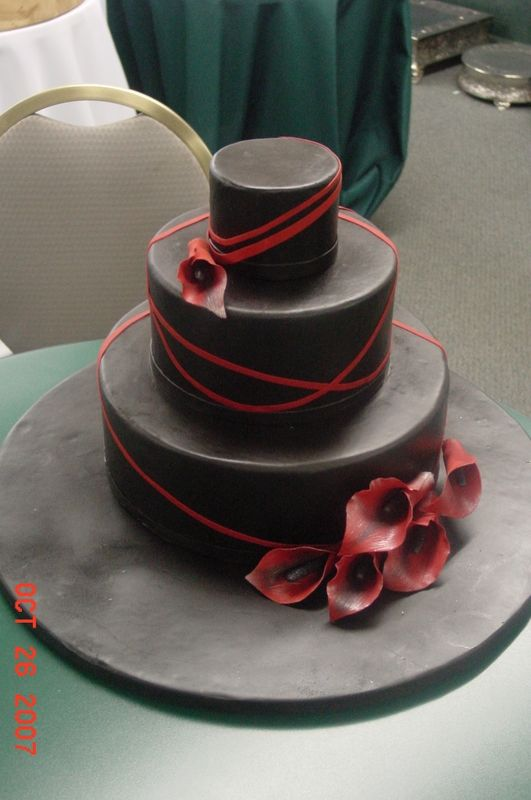 Red And Black Wedding Cakes Red