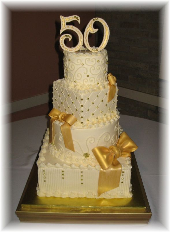 Cake Decorating Ideas For 50th Wedding Anniversary : 50th Wedding Anniversary Cake Ideas