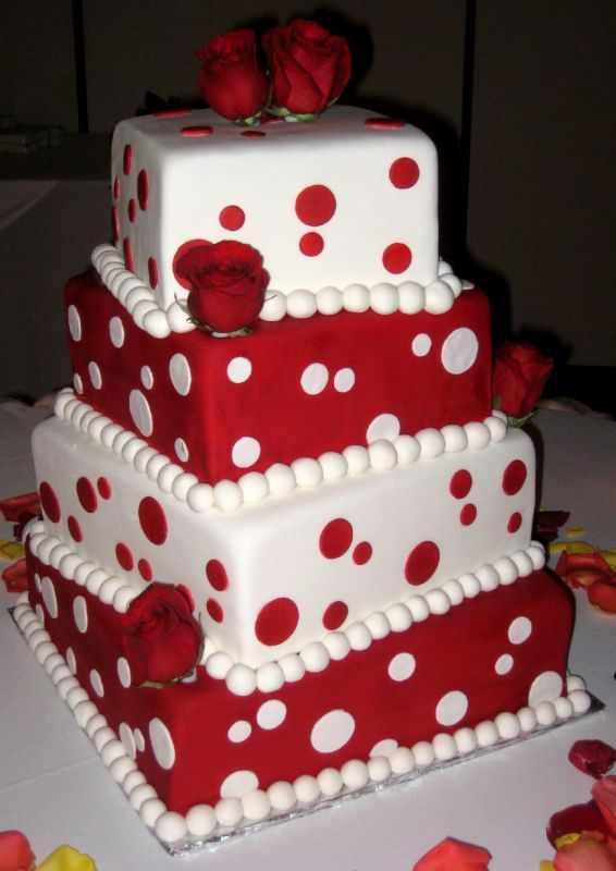 Kingdom royal wedding red and white square wedding cakes red and white square wedding cakes junglespirit Gallery