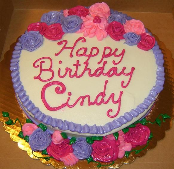 Happy Birthday Cindy Uploaded By: ChristineMarie. This was a cake I tried to