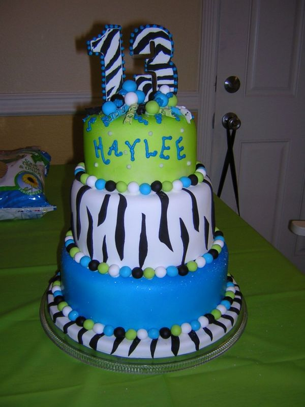 pictures of love 13th birthday cake girl