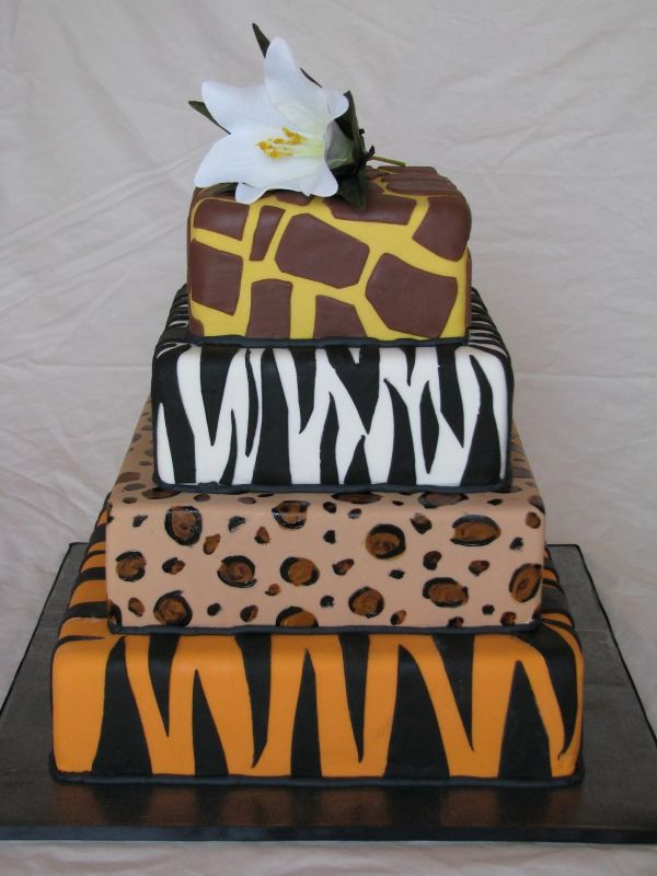 pictures of zebra print cakes