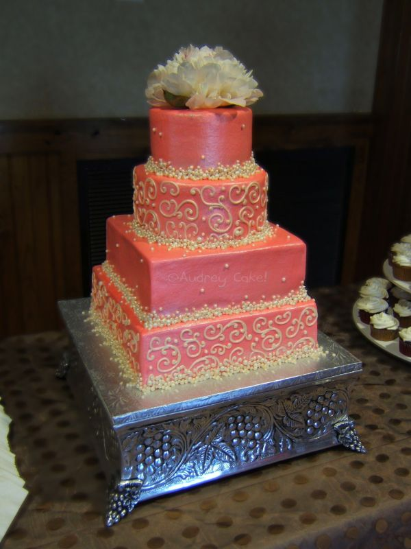 Coral Wedding Cake Inspiration