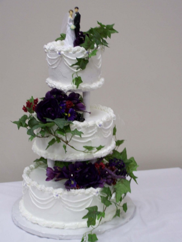 Purple Wedding Cake By tbittner 12 chocolate with mocha filling