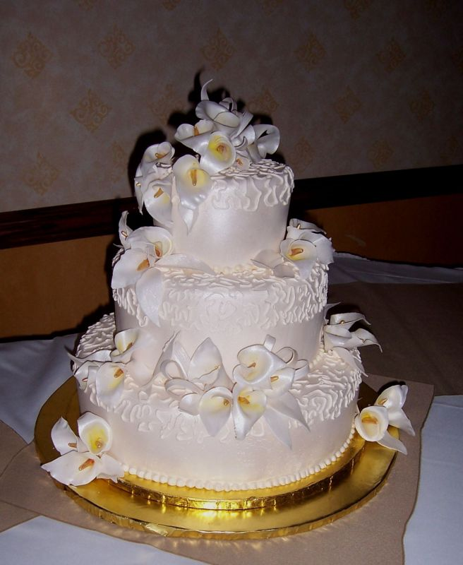 Wedding Cakes With Calla Lilies Wedding Pictures Ideas - Calla Lilly Wedding Cake