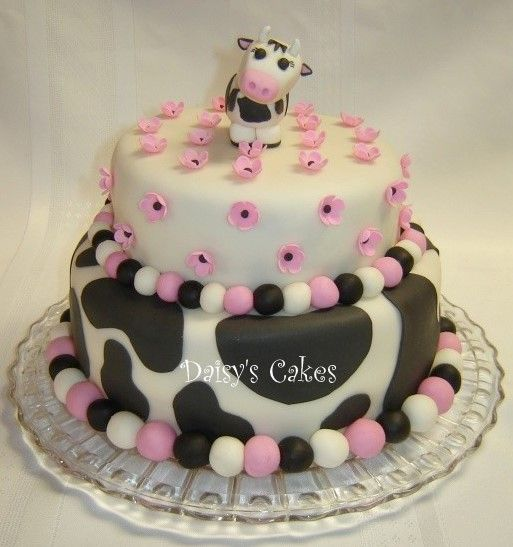 Easy Cow Cake Design : Birthday and Party Cakes: Cow Birthday Cake 2010