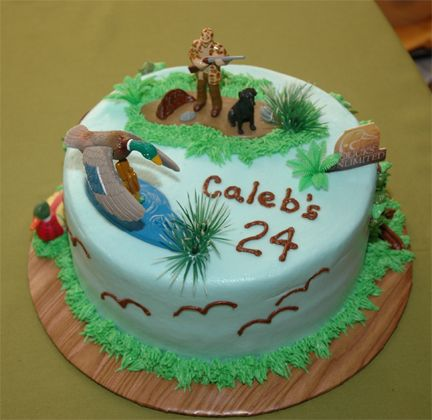 Hunting Birthday Cake
