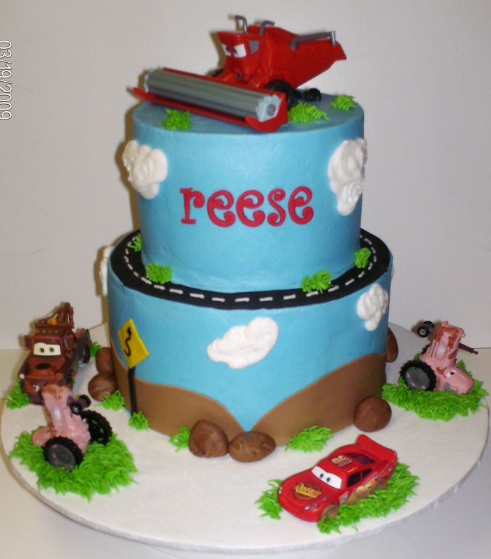 images of cars cakes. CARS Tractor Tippin Cake