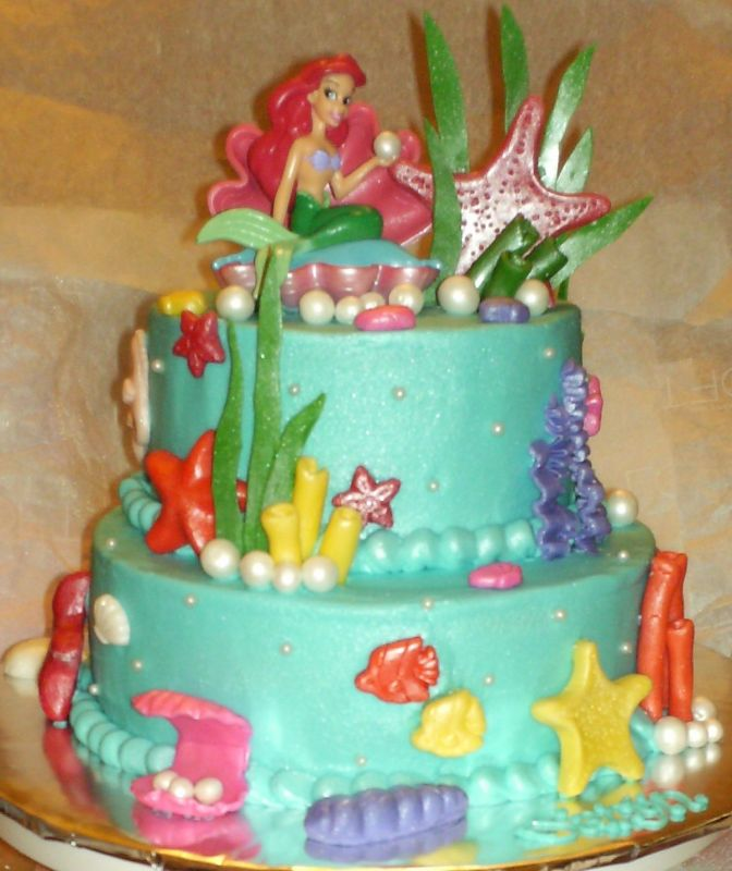 B day ideas mermaid cake little mermaids mermaid for Ariel cake decoration