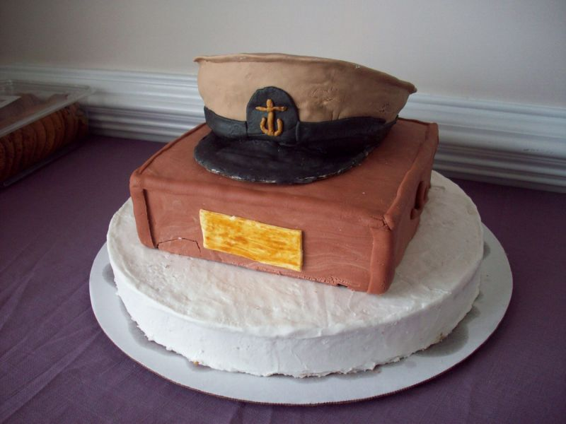 Homemade Army promotion Party Cake