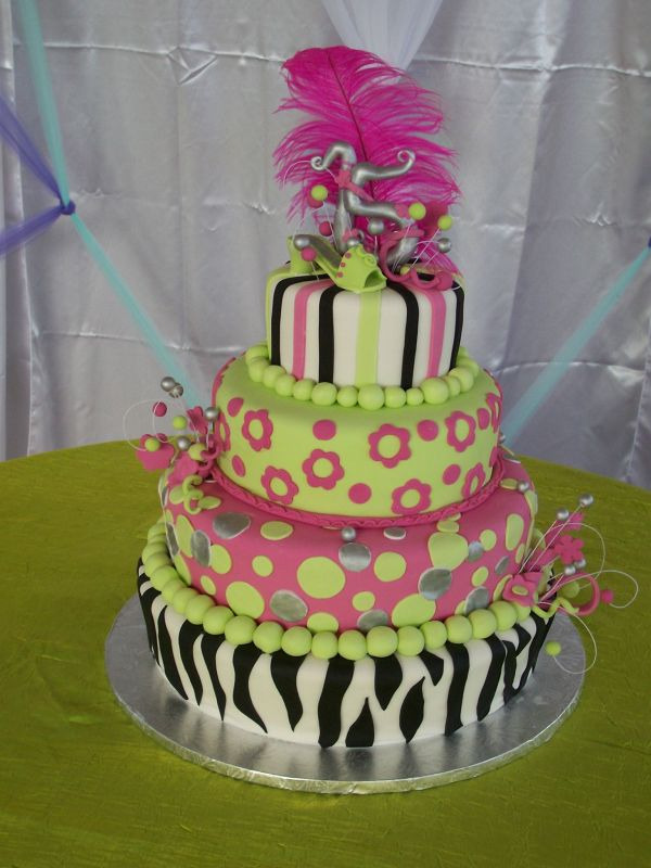 Quinceañera Cake, Zebra print. Uploaded By: kafa