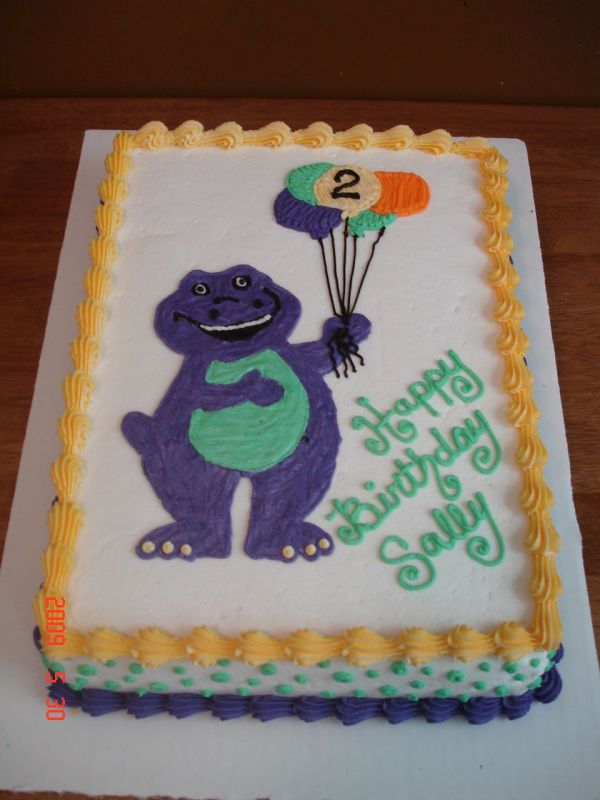 Birthday And Party Cakes Barney Cake 2010