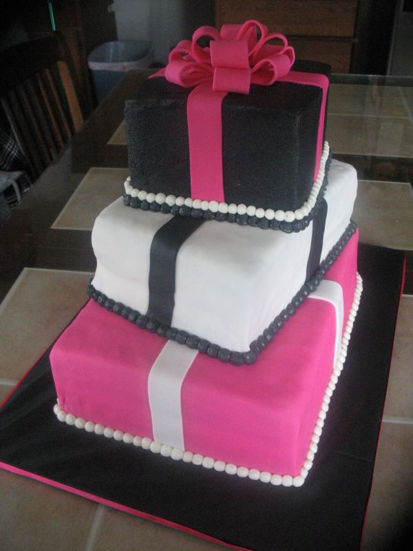 Pink, black, & white gift box