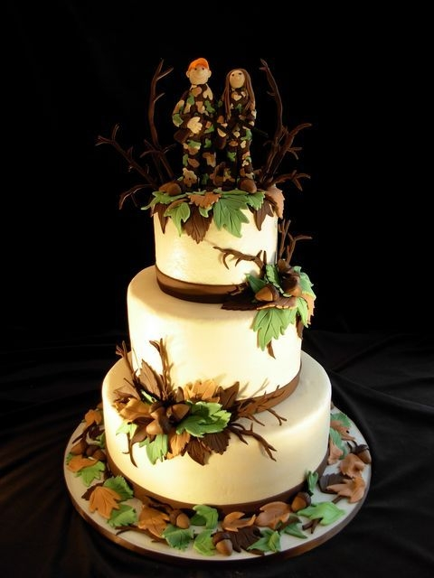 Bow Hunting Wedding Cakes Hunters Center Peices