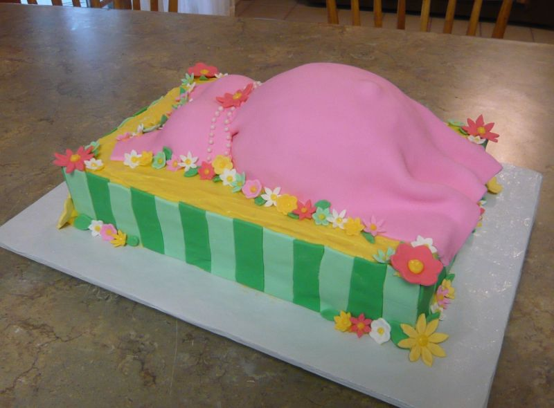 pink pregnant belly. Pink Pregnant Belly Cake.