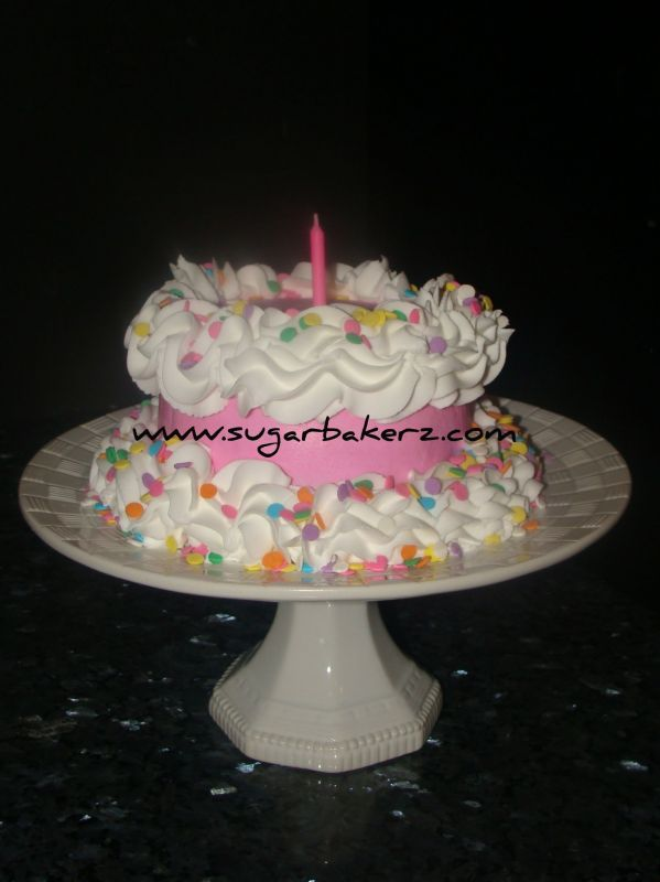 Girls 1st birthday smash cake. Uploaded By: SugarBakerz