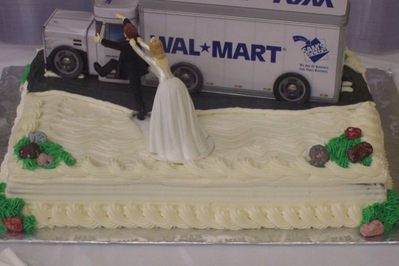 Cake Gallery | Wedding Cakes | Groom's Cakes · « prev · next ». Wal-Mart or