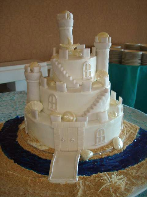 Sandcastle Wedding Cake. Sandcastle Wedding Cake