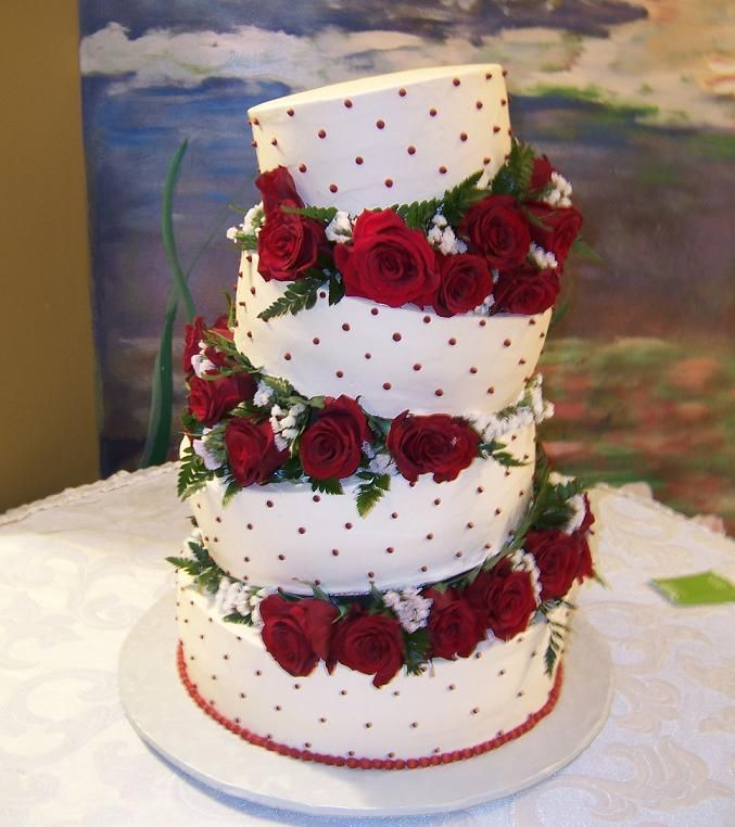 Red Roses Cake Images : Happy Birthday Wishes to Dearest Tina..by her fans ...
