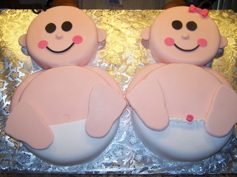Baby Shower Cakes For Twins Boys And Girls