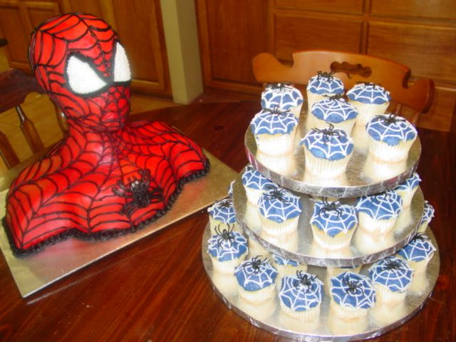 spiderman 3d cake. I had to try this Spiderman 3D