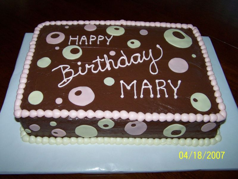 happy birthday mary cake graphic