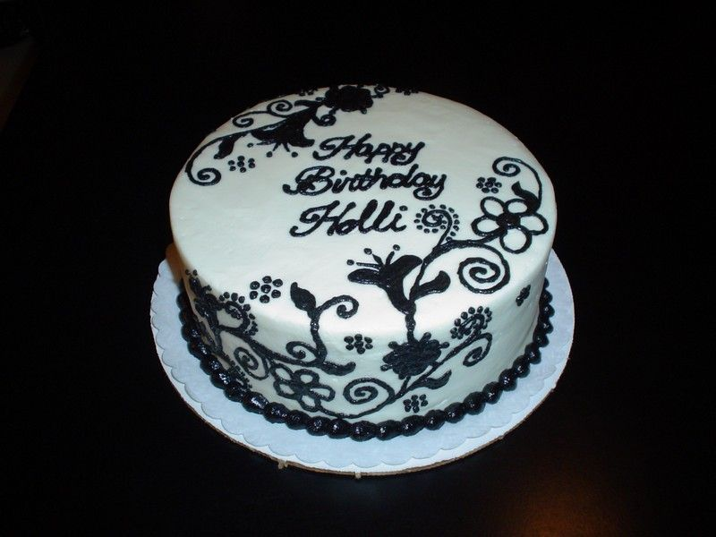 2001 Birthday Cake Cute: The Beauty birthday cake black ...