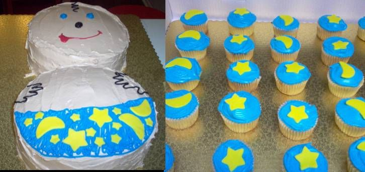 baby shower cakes ideas. Baby w/Cupcakes