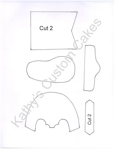 Cowboy Boot Template   Let S Get Caking Baby Blue Cowboy Boots