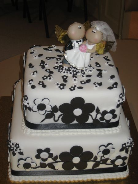 Square Black And White Wedding Cakes. Black amp; White Wedding Cake