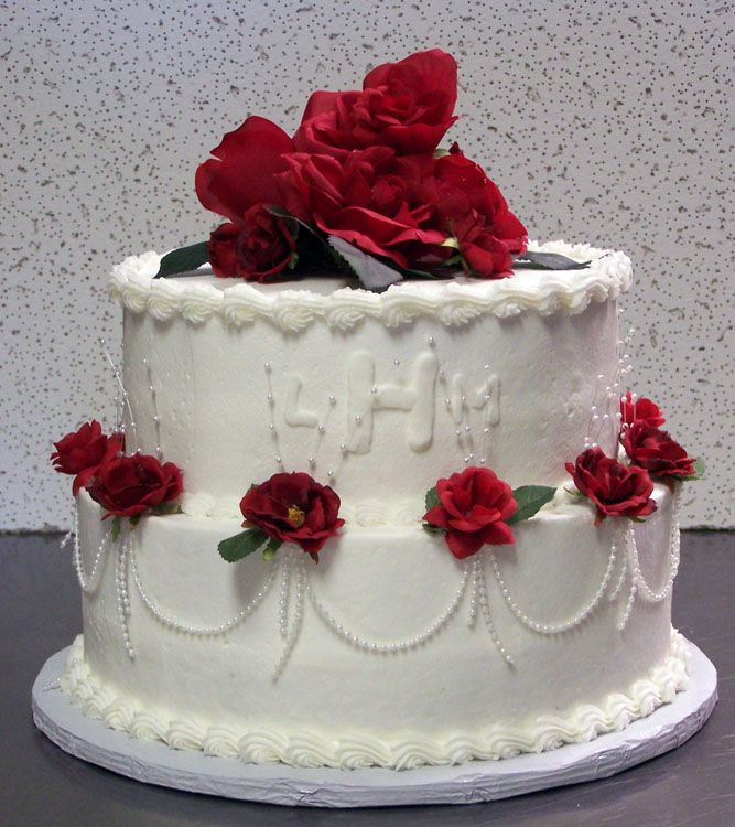Wedding Cakes With Flowers on Top