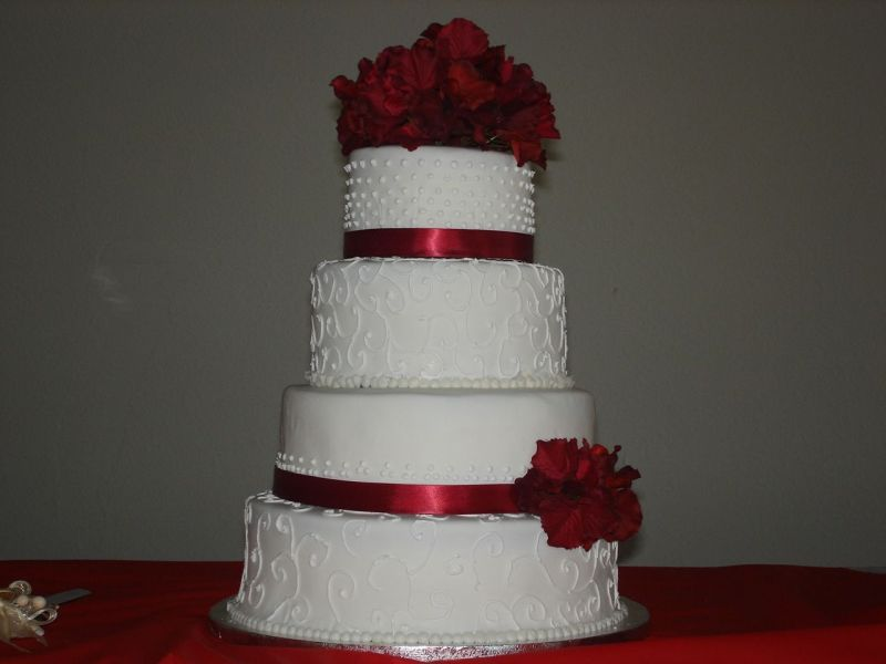 Simple red and white wedding cakes junglespirit Gallery