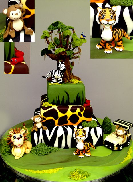 Beautiful Jungle Cakes Designs Ideas