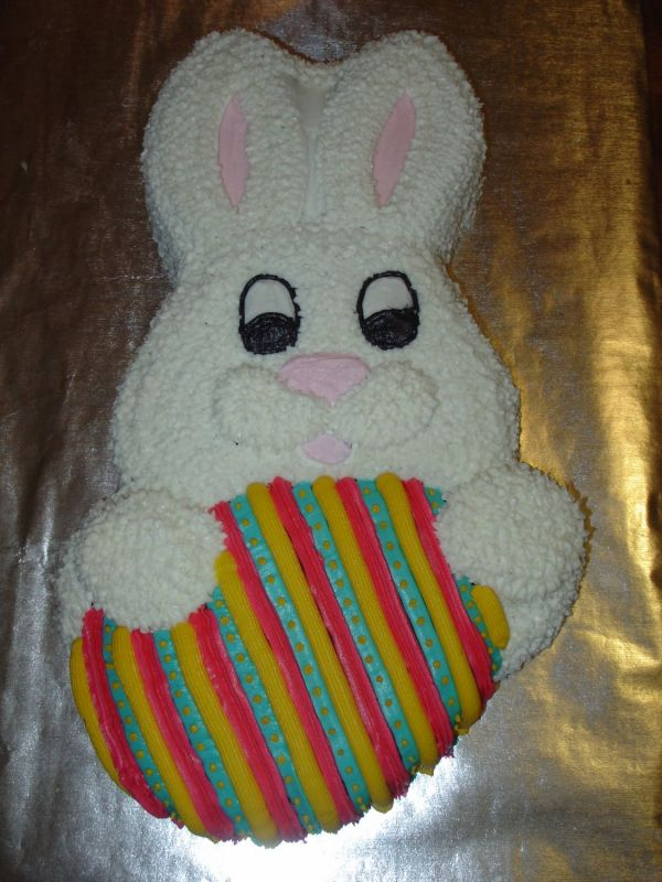 easter bunny cake images. wilton easter bunny cake pan.