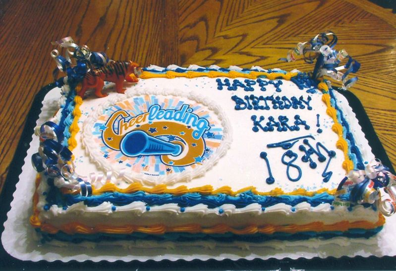 Happy 18th Birthday Kara Uploaded By: nanny4. 1/2 sheet buttercream,