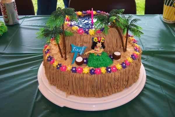 Luau Birthday Cakes