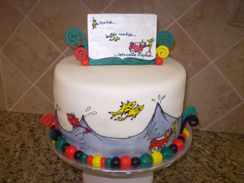 drseuss baby shower cake