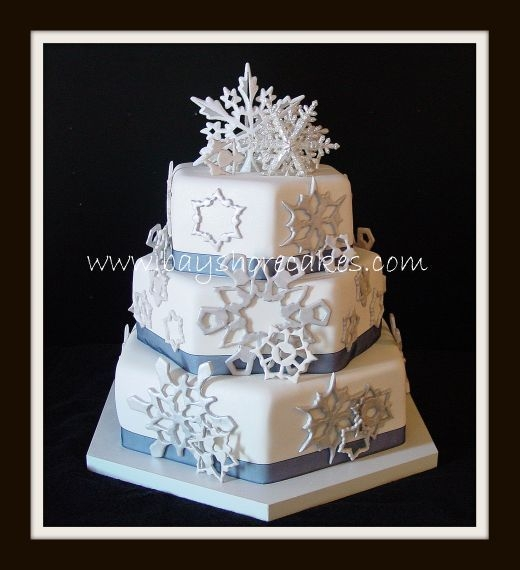 Snowflake Wedding Cake By dellboi2u I glittered from head to toe after