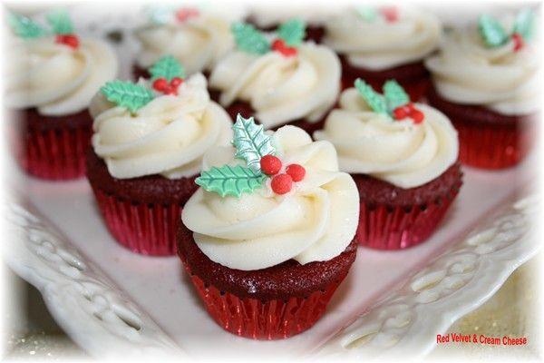 christmas cupcakes | [Holidays] | Pinterest