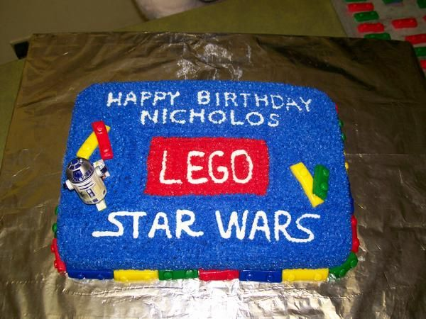 This is a birthday cake for my son who is into the x-box game lego starwars.