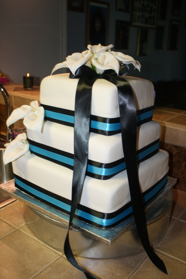 teal blue and brown wedding cakes floid s 39s calla chocolate and 20775