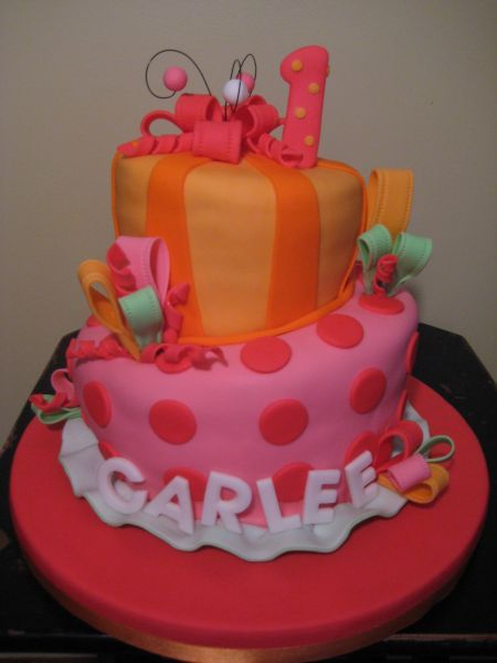 Fondant Birthday Cakes for Girls