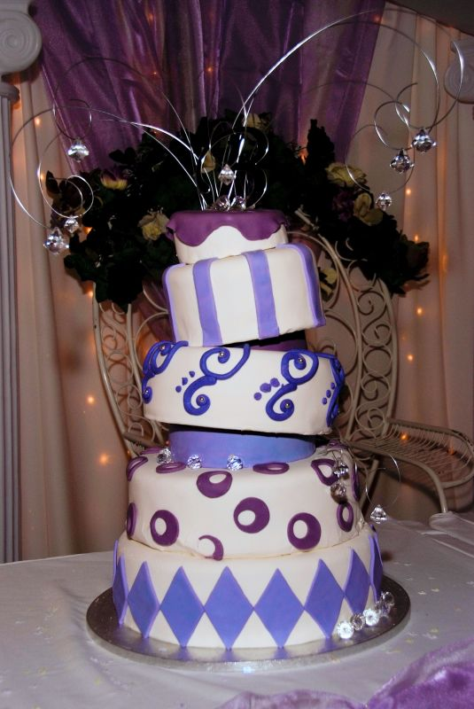 This was my first big event cake that I made for my daughter's Quinceanera.