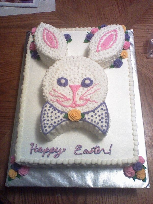 easter bunny cake images. Easter bunny cake with 1/2