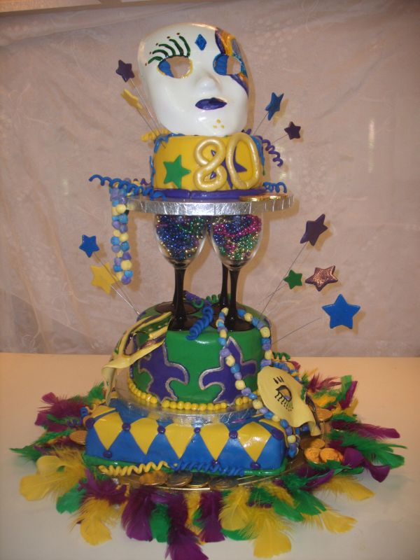 Antique Mardi Gras Cake
