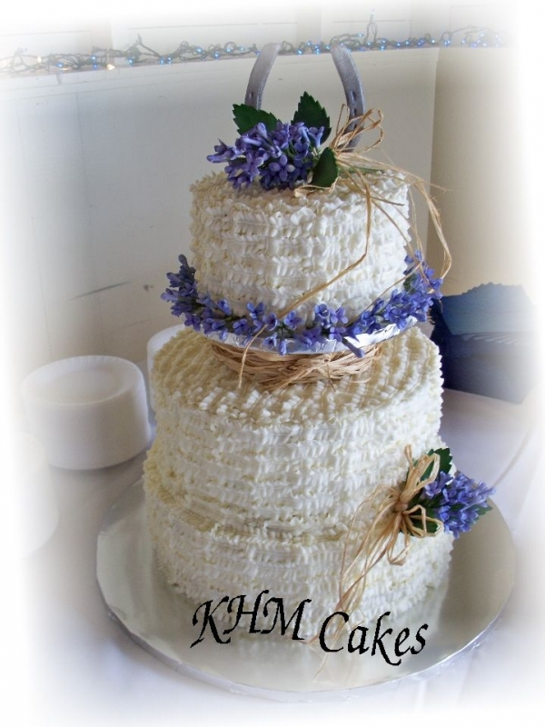 Western themed wedding cake with gumpaste By khoudek