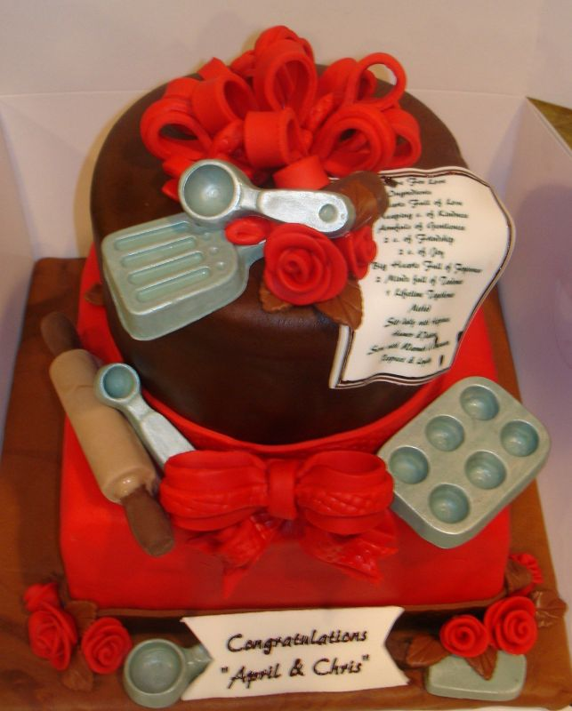 Bridal shower cake idea needed thenest for Chef themed kitchen ideas